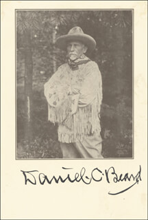 Autographs: DANIEL C. BEARD - PHOTOGRAPH SIGNED