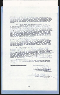 GLENN FORD - CONTRACT SIGNED 04/18/1953
