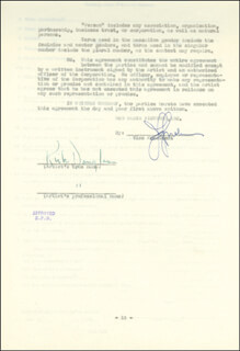 KIRK DOUGLAS - CONTRACT SIGNED 01/06/1947