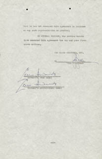 SIR CEDRIC HARDWICKE - CONTRACT SIGNED 01/25/1941