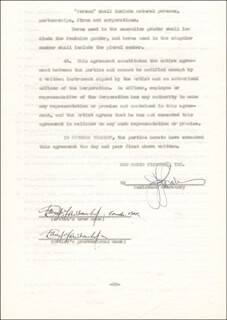 DOUGLAS FAIRBANKS JR. - CONTRACT SIGNED 11/19/1945