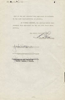 JACKIE COOPER - CONTRACT SIGNED 11/12/1941 CO-SIGNED BY: NORMAN TAUROG