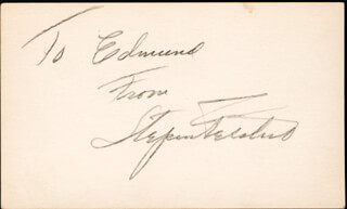 Autographs: STEPIN FETCHIT - INSCRIBED SIGNATURE