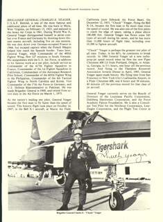BRIGADIER GENERAL CHUCK YEAGER - BIOGRAPHY SIGNED