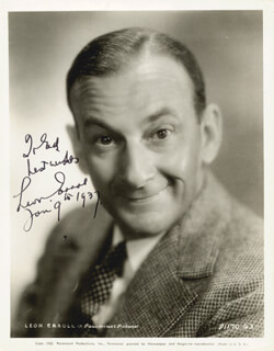 LEON ERROL - AUTOGRAPHED INSCRIBED PHOTOGRAPH 01/09/1937