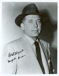 ROBERT SHAYNE - AUTOGRAPHED SIGNED PHOTOGRAPH