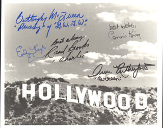 GONE WITH THE WIND MOVIE CAST - AUTOGRAPHED SIGNED PHOTOGRAPH CO-SIGNED BY: CAMMIE KING, RAND BROOKS, ANN RUTHERFORD, EVELYN KEYES, BUTTERFLY McQUEEN