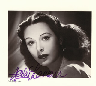 HEDY LAMARR - MAGAZINE PHOTOGRAPH SIGNED