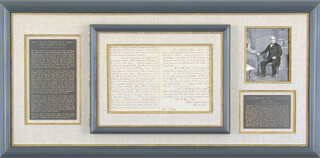 Autographs: CHIEF JUSTICE SALMON P. CHASE - MANUSCRIPT LETTER SIGNED 07/04/1870