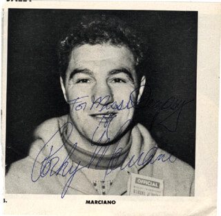 ROCKY MARCIANO - AUTOGRAPHED INSCRIBED PHOTOGRAPH