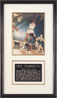 WILT THE STILT CHAMBERLAIN - AUTOGRAPHED SIGNED PHOTOGRAPH