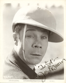 JOE E. BROWN - AUTOGRAPHED INSCRIBED PHOTOGRAPH
