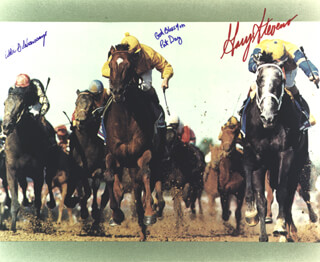 GARY STEVENS - AUTOGRAPHED SIGNED PHOTOGRAPH CO-SIGNED BY: EDDIE DELAHOUSSAYE, PAT DAY