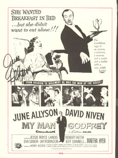 JUNE ALLYSON - MAGAZINE ADVERTISEMENT SIGNED
