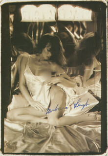BARBARA LEIGH - MAGAZINE PHOTOGRAPH SIGNED