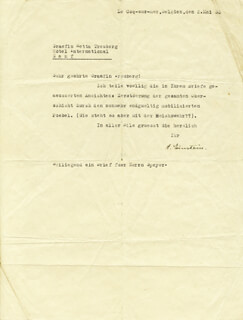 Autographs: ALBERT EINSTEIN - TYPED LETTER SIGNED 05/02/1933