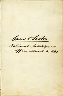 WILLIAM WINSTON SEATON - AUTOGRAPH 03/04/1848
