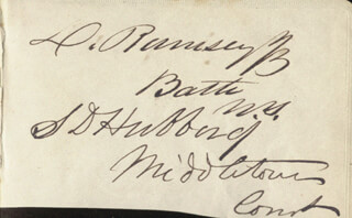 SAMUEL DICKINSON HUBBARD - AUTOGRAPH CO-SIGNED BY: D. RAMSEY