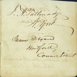 FREDERICK A. TALLMADGE - AUTOGRAPH CO-SIGNED BY: WASHINGTON BARROW, JAMES DIXON, BRIGADIER GENERAL THOMAS L. CLINGMAN, BRIGADIER GENERAL ROBERT A. TOOMBS