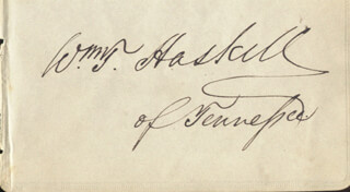 Autographs: WILLIAM T. HASKELL - SIGNATURE(S)