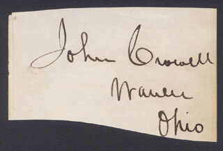 Autographs: JOHN CROWELL - CLIPPED SIGNATURE