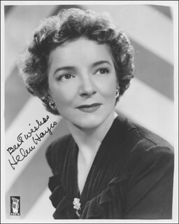 HELEN HAYES - AUTOGRAPHED SIGNED PHOTOGRAPH