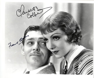 IT HAPPENED ONE NIGHT MOVIE CAST - AUTOGRAPHED SIGNED PHOTOGRAPH CO-SIGNED BY: CLAUDETTE COLBERT, FRANK CAPRA