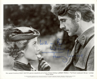 JEREMY IRONS - AUTOGRAPHED SIGNED PHOTOGRAPH