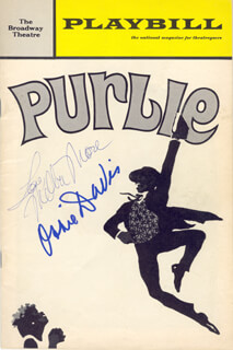 Autographs: MELBA MOORE - SHOW BILL SIGNED 03/15/1970 CO-SIGNED BY: OSSIE DAVIS