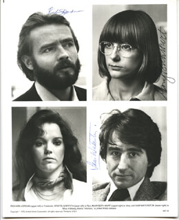 INTERIORS MOVIE CAST - AUTOGRAPHED SIGNED PHOTOGRAPH CO-SIGNED BY: MARY BETH HURT, SAM WATERSTON, RICHARD JORDAN