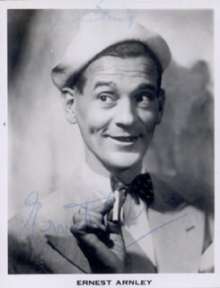 ERNEST ARNLEY - AUTOGRAPHED SIGNED PHOTOGRAPH