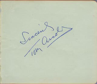 TOM ARNOLD - AUTOGRAPH SENTIMENT SIGNED  - HFSID 78450