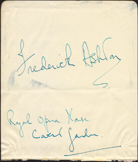 Autographs: SIR FREDERICK ASHTON - AUTOGRAPH SENTIMENT SIGNED