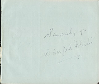 WINIFRED ATWELL - AUTOGRAPH SENTIMENT SIGNED