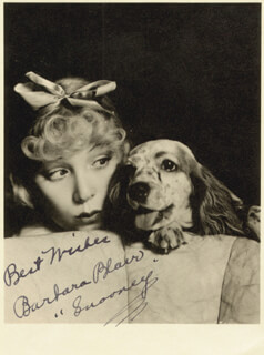 BARBARA (RUSTY FARRELL) BLAIR - AUTOGRAPHED SIGNED PHOTOGRAPH