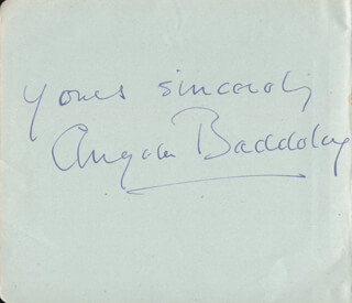 ANGELA BADDELEY - AUTOGRAPH SENTIMENT SIGNED