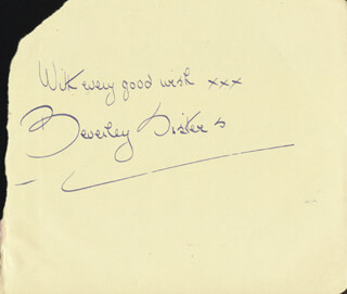THE BEVERLEY SISTERS - AUTOGRAPH SENTIMENT SIGNED