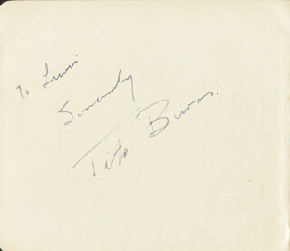Autographs: TITO BURNS - INSCRIBED ALBUM LEAF SIGNED