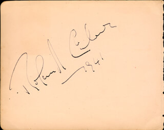 ROLAND CULVER - AUTOGRAPH 1941 CO-SIGNED BY: GEORGE DOONAN