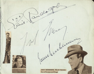 JACK BUCHANAN - AUTOGRAPH CO-SIGNED BY: FRED EMNEY