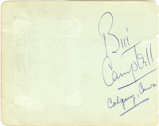 WILLIAM BIG BILL CAMPBELL - AUTOGRAPH CO-SIGNED BY: ARTHUR PRINCE