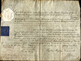 Autographs: KING GEORGE III (GREAT BRITAIN) - MILITARY APPOINTMENT SIGNED 11/05/1802 CO-SIGNED BY: THOMAS (2ND EARL OF CHICHESTER) PELHAM
