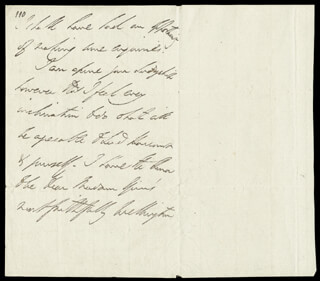 DUKE (ARTHUR WELLESLEY) OF WELLINGTON (GREAT BRITIAN) - AUTOGRAPH LETTER SIGNED 01/06/1819