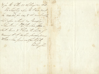DUKE (ARTHUR WELLESLEY) OF WELLINGTON (GREAT BRITIAN) - AUTOGRAPH LETTER SIGNED 11/22/1819