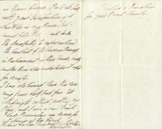 DUKE (ARTHUR WELLESLEY) OF WELLINGTON (GREAT BRITIAN) - AUTOGRAPH LETTER SIGNED 06/13/1843