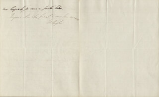 DUKE (ARTHUR WELLESLEY) OF WELLINGTON (GREAT BRITIAN) - AUTOGRAPH LETTER SIGNED 12/02/1822