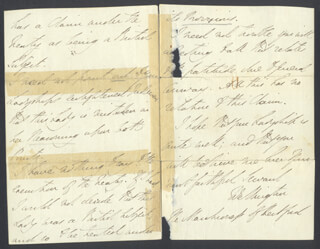 DUKE (ARTHUR WELLESLEY) OF WELLINGTON (GREAT BRITIAN) - AUTOGRAPH LETTER SIGNED 03/13/1833