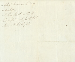 DUKE (ARTHUR WELLESLEY) OF WELLINGTON (GREAT BRITIAN) - AUTOGRAPH LETTER SIGNED 12/19/1824