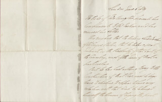 DUKE (ARTHUR WELLESLEY) OF WELLINGTON (GREAT BRITIAN) - THIRD PERSON AUTOGRAPH LETTER 06/06/1839