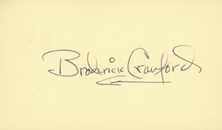 BRODERICK CRAWFORD - AUTOGRAPH